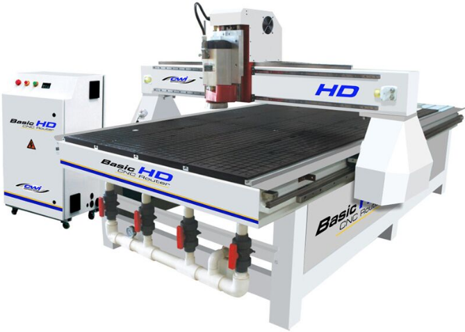 """BASIC HD 48"""" X 96"""" CNC ROUTER w/4.5 HP HSD Italian Spindle"""